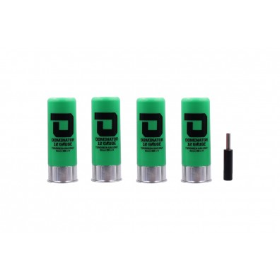 Dominator™ 12 Gauge Gas Shotgun Shells Package - Green (4 Shells/Unit)