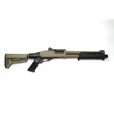 "Dominator DM870 Shell-Ejecting Shotgun - 14"" Barrel Tactical 6-Position Stock MP (Cerakote™ Flat Dark Earth)"